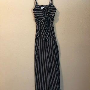 Fashion Nova Striped Jumpsuit